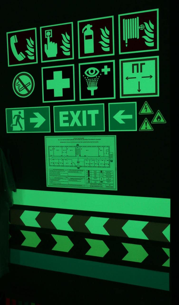 Изготовление пожарных знаков в фотолюминесцентном